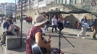 Busking Vlog; 'Spiralling' by Alexa Allen - in Porto