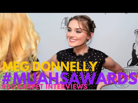 Meg Donnelly #AmericanHousewife interviewed at the 2017 Make-Up Artists & Hair Stylists Guild Awards