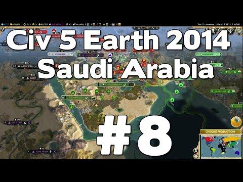 Let's Play Civ 5 Saudi Arabia Earth 2014 #8