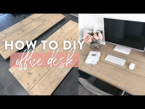 Scaffold board desk | Make your own wooded office desk top