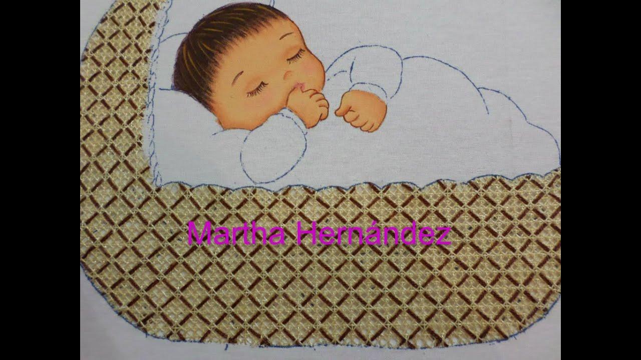 Bordado fantas a moises bebe 3 youtube - Dibujos para sabanitas de bebe ...