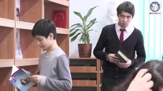 Открытие библиотеки во Дворце школьников после ремонта (Катя Боцман, март, 2015)