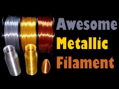 MIKA3D Gold Silver and Copper Silk PLA Filament Prints Using the CR-10 and MP Mini Delta