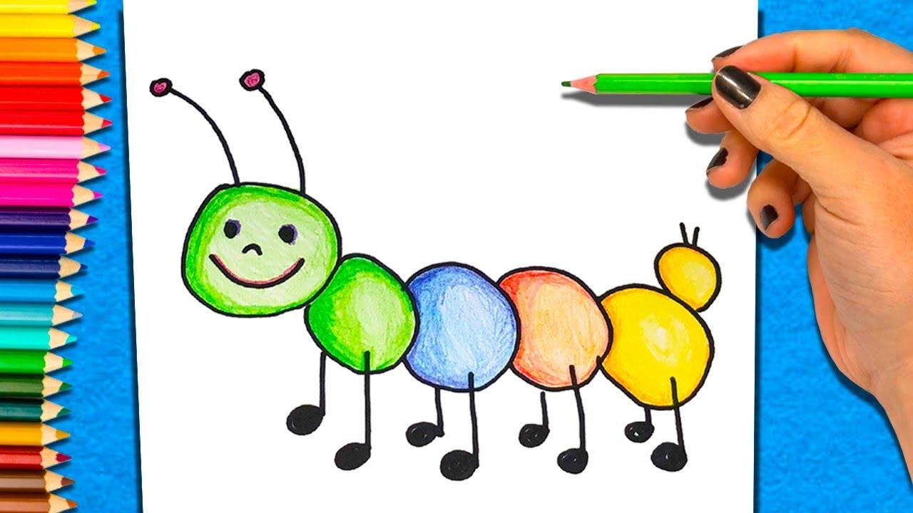 Aprender A Colorear Paso A Paso Los Colores Para Ninos Pequenos