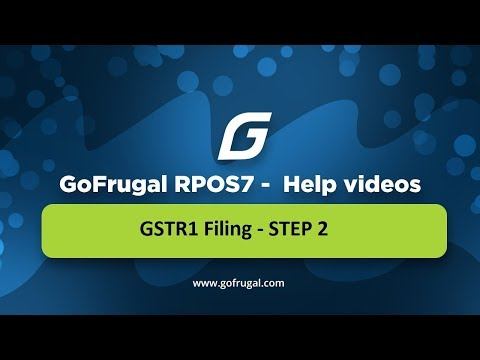 GoFrugal RPOS7 - GSTR1 Filing - STEP 2