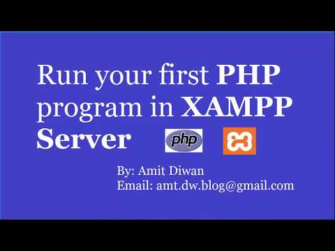 How To Run First PHP Program In XAMPP Server