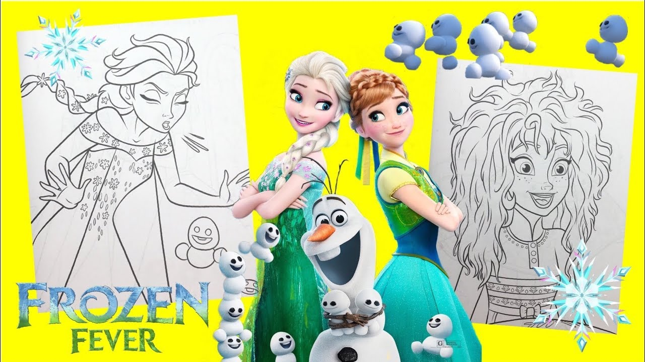 Frozen Fever Anna And Elsa Coloring Book For Kids Youtube