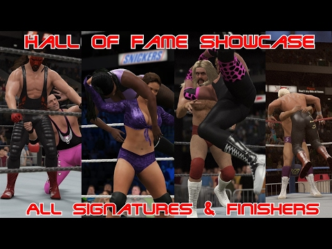 Hall of Fame Showcase: Every Signature & Finisher! | WWE2K17 Hall of Fame Showcase | WWE2k17 PC Mods