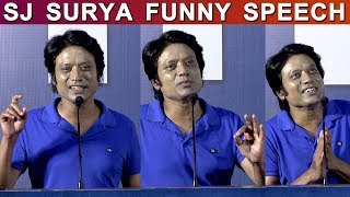 SJ Surya Funny Speech | Monster Success Meet