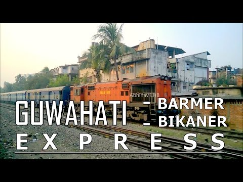 GUWAHATI - BARMER / BIKANER EXPRESS with NGC ALCo WDM3A #16511R in the CAUTION ORDER (3rd) LINE