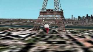 Flight Simulator 2002: Eiffel Tower Epic Fail