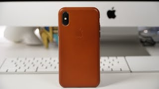 Apple iPhone X Leather Case - Review!