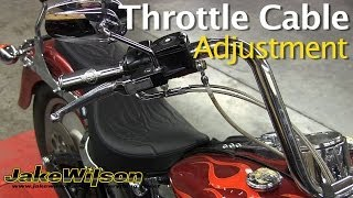 Harley Davidson Throttle Cable Adjustment