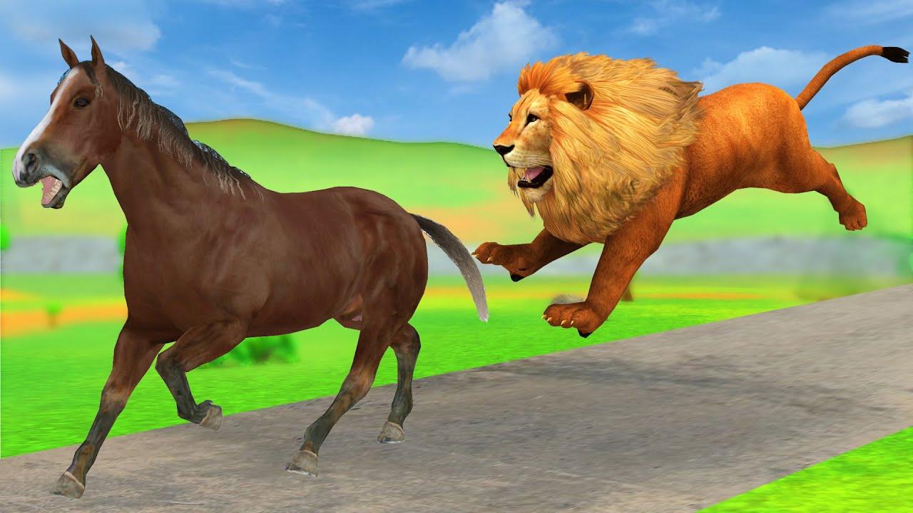 चतुर घोड़ा बचाव होशियार बिल्ली और शेर कहानी Hindi kahaniya - panchatantra moral stories in hindi