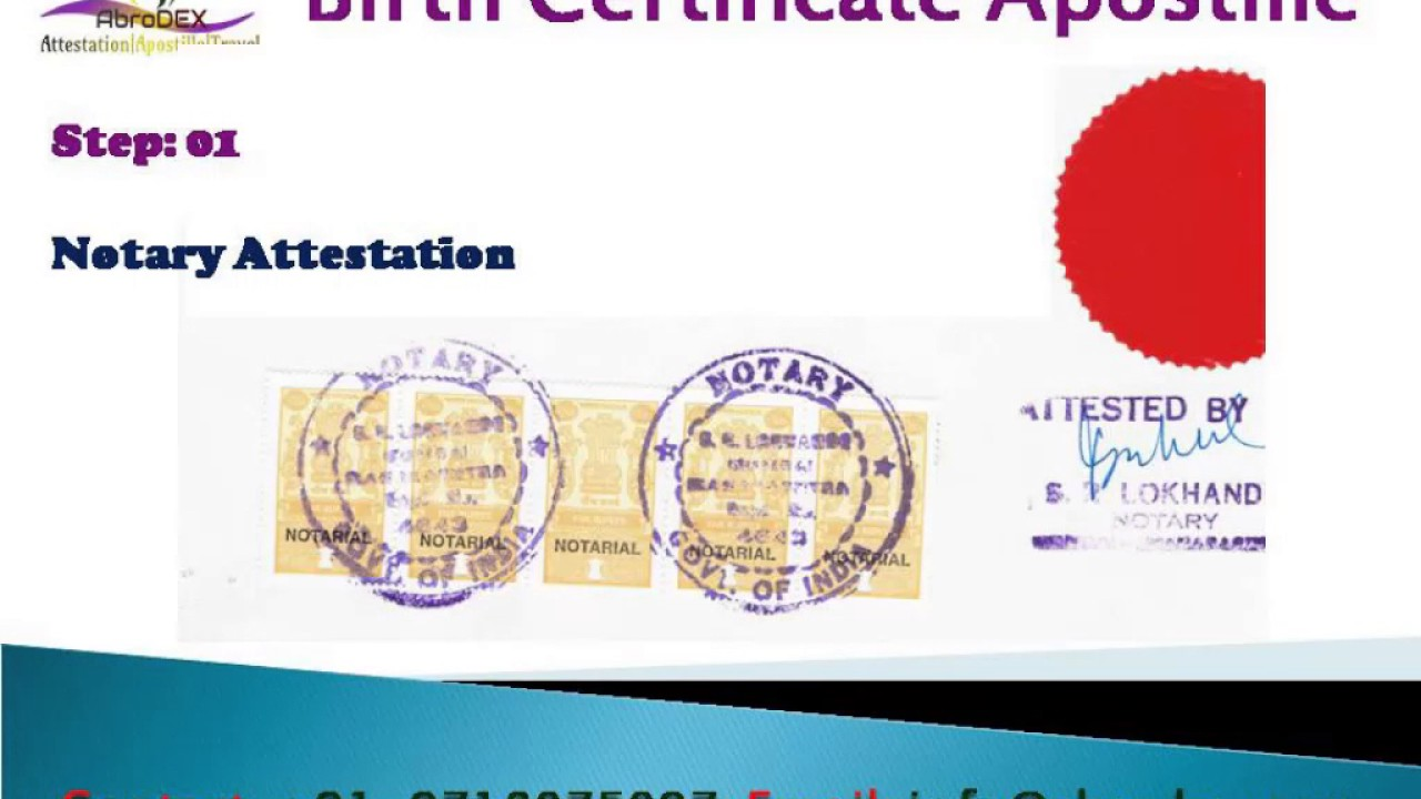 Birth Certificate Apostille In India Mea Apostille Of Birth