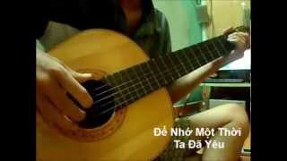 Để nhớ một thời ta đã yêu - Guitar Solo (demo)