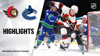 Senators @ Canucks 1/25/21 | NHL Highlights