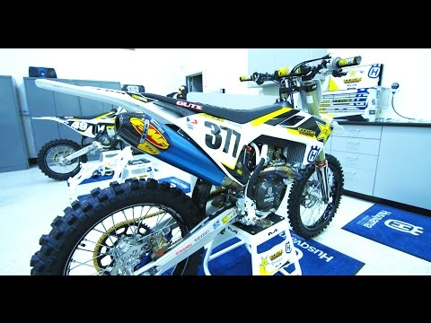 Christophe Pourcel's Factory Rockstar Racing Husqvarna FC450||Motocross Action Magazine