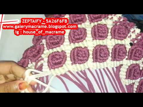 Creating Macrame Bags With Motif Flower Rose Color Maroon
