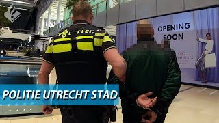 Police Utrecht  Arrest  Call fighting people and general surveillance in the city
