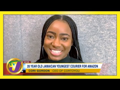 28 yr old Jamaican Youngest Courier for Amazon   TVJ News
