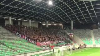 Spartax Trnava の応援  VS Olimpija Ljubljana Europa League 23/8/2018