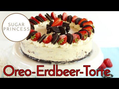 Sugarprincess: Traumhafte, schnelle Oreo Torte ohne Backen mit Erdbeeren   Rezept und Video