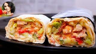 ШАУРМА с Курицей и соусом Цацики | Shawarma with Tzatziki sauce