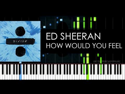 Ed Sheeran - How Would You Feel (Paean) (piano cover + sheet by HalcyonMusic)