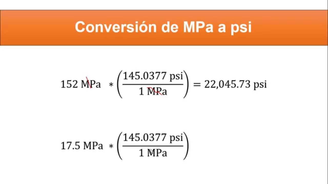 Pascal Psi Conversion Factor