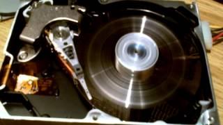 Wrecking a hard drive platter