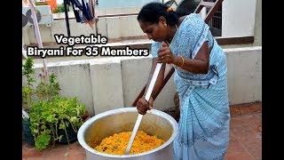 Vegetable Biryani For 35 Members | வெஜிடபிள் பிரியாணி  | Vegetable Biryani Recipe in Tamil