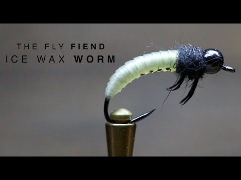 Wax Worm Ice Fly Tying Tutorial | The Fly Fiend.
