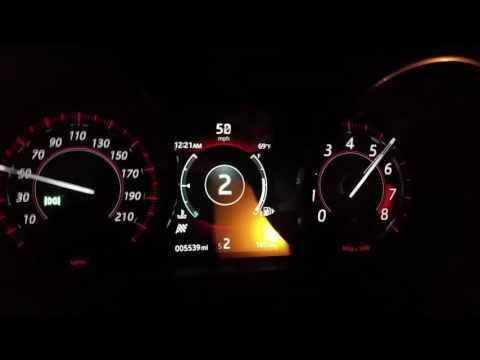 2017 Jaguar F-TYPE R built in shift light