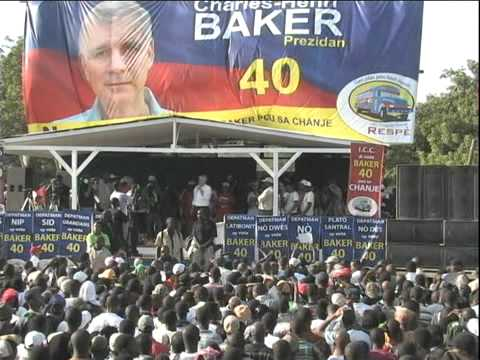Charles Henri Baker in Croix Des Bouquet, Haiti Rally - Haitian Elections 2010