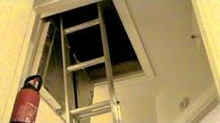 Attic ladders aluminium supplied & fitted Dublin Ireland