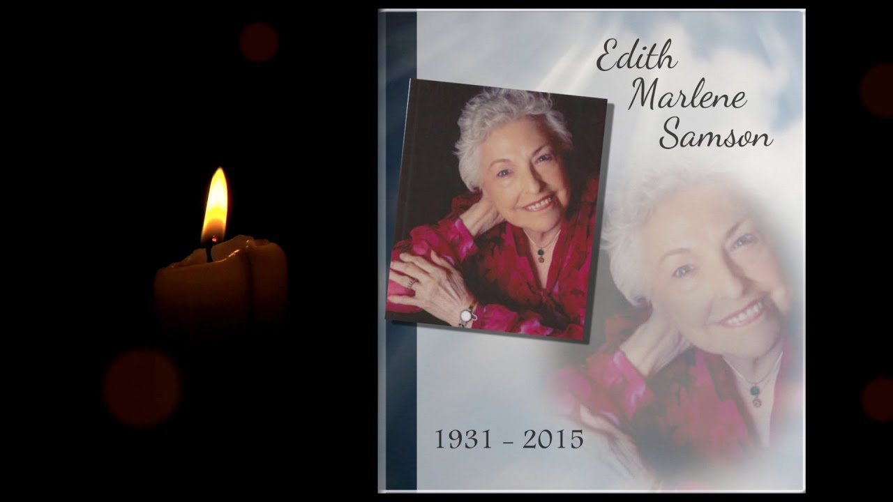 memorial templates candle by memory magic youtube