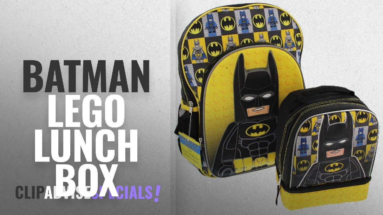 bb5b29dd85 Top 10 Batman Lego Lunch Box [2018]: Lego Batman 16 inch Backpack and Lunch  Box Set (Black/Yellow)