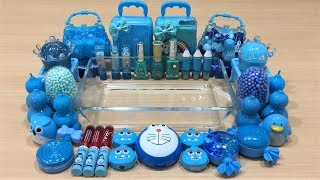Special Series BLUE Satisfying Slime Videos   Mixing Random Things into Store Bought Slime