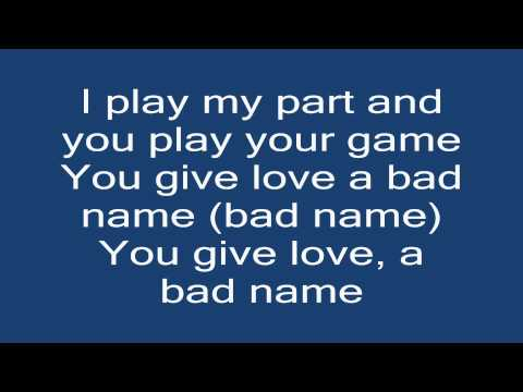 Bon Jovi-You give love a bad name(Lyrics(Tekst))[HD]