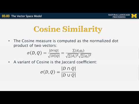 Introduction to Data Mining: Euclidean Distance & Cosine