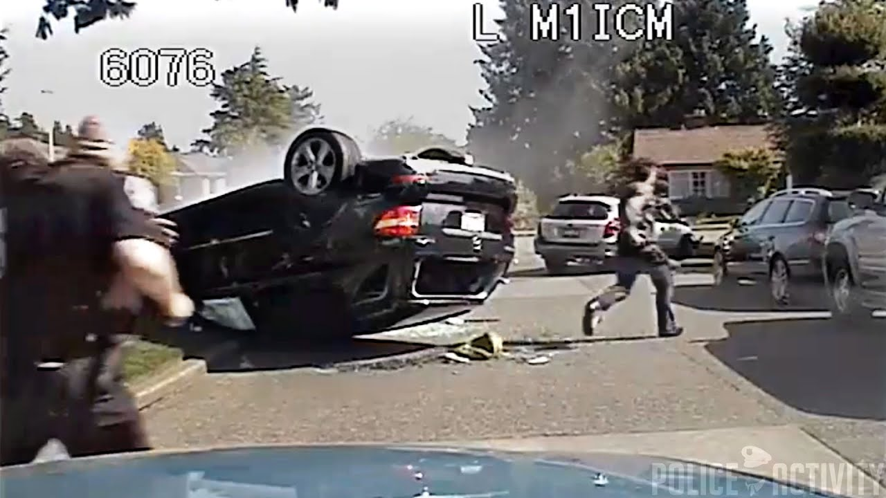 Seattle Police Chase Of Stolen Car Ends in Dramatic Crash ...