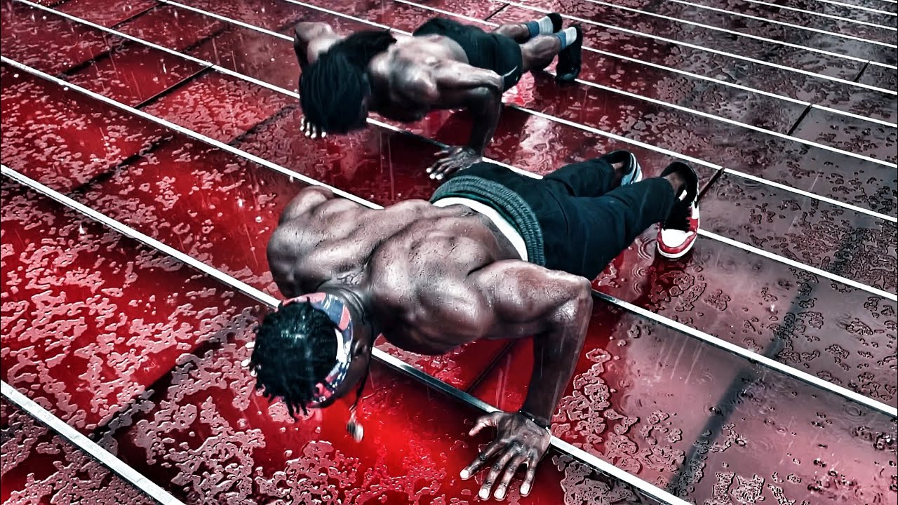 Push ups for Chest | Working Out in the Rain | @Akeem Supreme @Broly Gainz