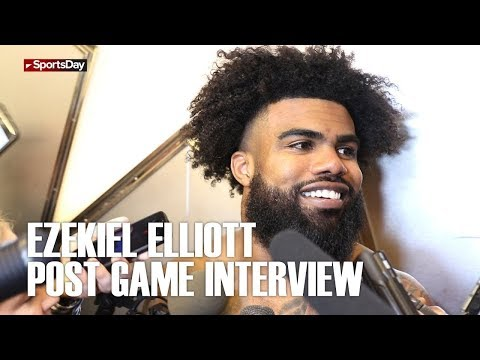 Ezekiel Elliott post game interview after huge win over the Jacksonville Jaguars