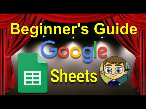 Google Sheets Tutorial 2017 - Online Spreadsheets