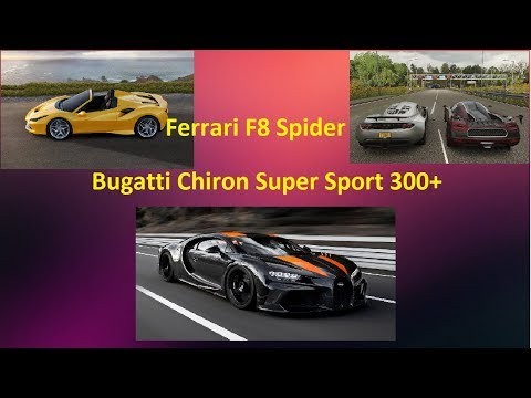 Серийный Bugatti Chiron Super Sport 300+, Ferrari F8 Spider и надежды Hennessey с Koenigsegg