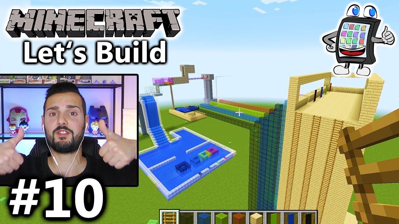 Minecraft WASSERPARK Bauen AQUAPARK IM ÜBERLEBENSMODUS TESTEN - Minecraft wasser hauser
