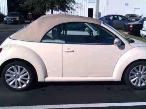 2008 Volkswagen Beetle Se Convertible 2dr Auto Triple Beige 1 Owner Pwr Windows