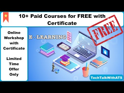 Premium Certificate For FREE In Lockdown | Top 10 Paid Online Courses For FREE | TechTalkWithATS