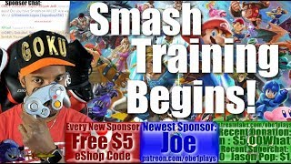 SMASH ULTIMATE TRAINING BEGINS! MARIO KART PRIZE TOURNEY & OTHER SWITCH GAMES AFTER!